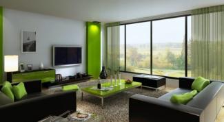 Зеленый цвет в интерьере квартиры