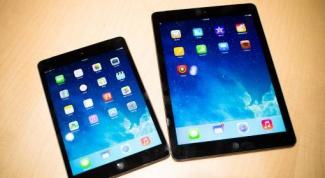 Comparison iPad Air and iPad Mini