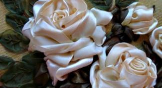 Вышивка лентами: простые способы изготовления роз
