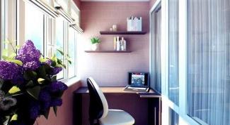 С чего начать организацию кабинета на балконе