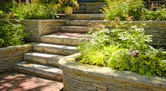 Как сделать подпорные стенки в саду