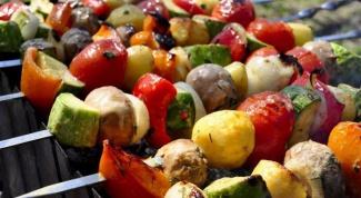 Как сделать вегетарианский шашлык из овощей