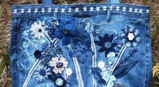 Как украсить джинсовую сумку своими руками