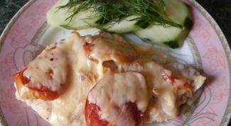 Куриная грудка с помидорами