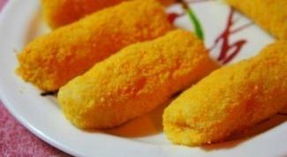 Как приготовить картофельные палочки с сырной начинкой