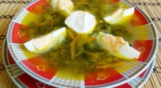 Суп из щавеля: две вариации