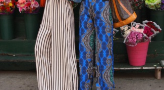 How to sew a Palazzo pants from long skirts