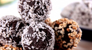 A simple recipe of chocolates or cakes of oatmeal