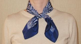 Как завязать платок на шее: стильные способы