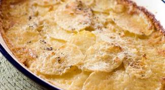 Как приготовить нежный картофель со сливками