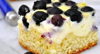 Как приготовить пирог с рикоттой и черникой