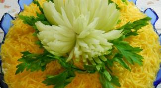 """Как приготовить салат """"Хризантема"""""""