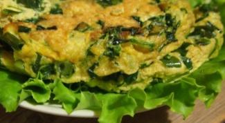 Полезный завтрак - омлет со шпинатом в мультиварке