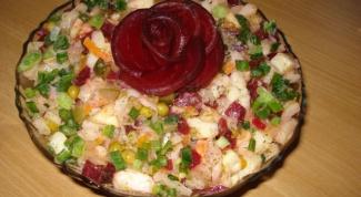 """Как приготовить салат """"Роза"""""""
