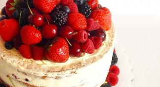 Light cake with custard