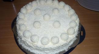 Как приготовить торт Raffaello