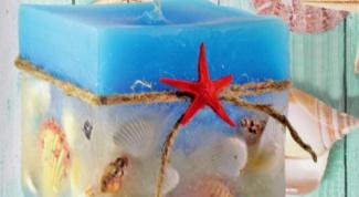 Как сделать свечи в морском стиле