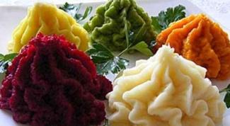 Как приготовить цветное картофельное пюре