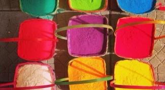 Как приготовить краску Холи в домашних условиях