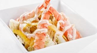 Как приготовить салат с креветками «Храм Будды»