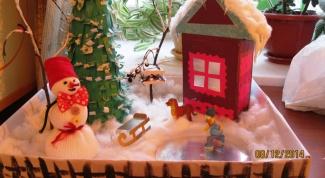 Макет зимы в детский сад своими руками