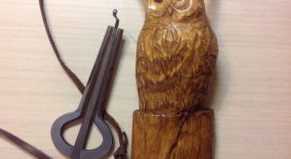 How to make a wooden box-the owl for a Jew's harp with his hands
