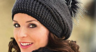 How to knit knitting women's cap quickly and easily
