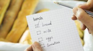 Как составить список покупок