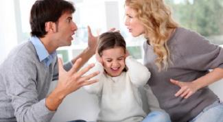 Как можно ссориться при детях