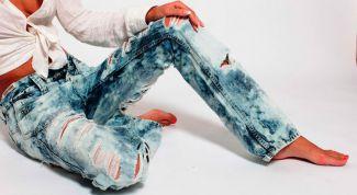 """Модные джинсы """"варенки"""" с потертостями"""