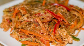 Очень вкусный корейский салат с фунчозой