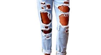 Как правильно носить рваные брюки деним