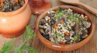 Простая и вкусная перловка с овощами и грибами в духовке