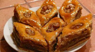 Узбекская медовая пахлава