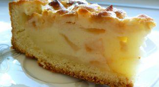 Пирог с кислыми яблоками