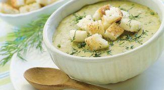 Как сделать вкусный и сытный суп-пюре из кабачков с гренками