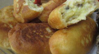 Пирожки с картофельно-грибной начинкой