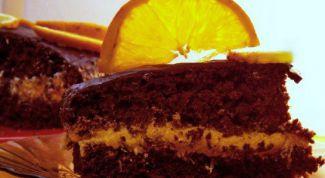 Шоколадно-ореховый торт с апельсинами
