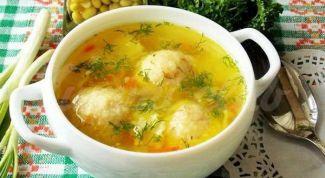 Легкий суп с овощами и сырными шариками