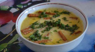 Как приготовить сливочный крем-суп из свежего салата на курином бульоне