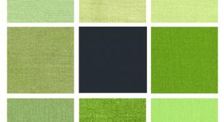 Зеленый цвет: оттенки с добавлением желтого