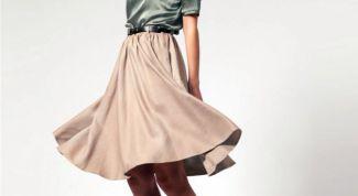 Как сшить юбку полусолнцем
