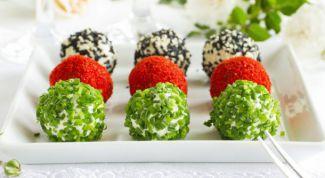 Сырные шарики с сёмгой - аппетитная закуска на Новый год