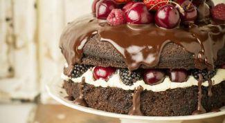 Как приготовить шоколадный торт со сметанным кремом