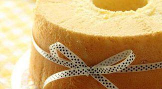 Как приготовить шифоновый бисквит с ванилью