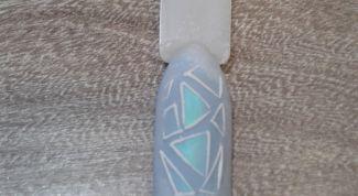 Как на ноготках нарисовать льдинки