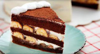 Как приготовить торт с шоколадом и бананом