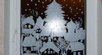 Украшаем окна на Новый год: «морозные» узоры