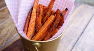 Как приготовить морковные палочки в духовке