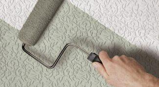 Как покрасить плитку на потолке